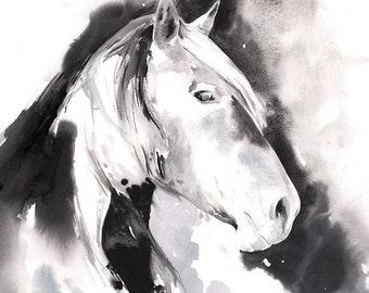 Horse Painting, Original Horse Watercolor Painting, Horse Watercolor, Horse Illustration