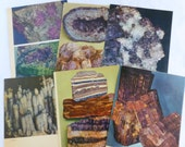 Rocks and Minerals Color Book Plates Photographs Illustrations Prints Pages Purple Violet Lot