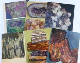 Rocks and Minerals Color Book Plates Photographs Illustrations Prints Pages Purple Violet Lot