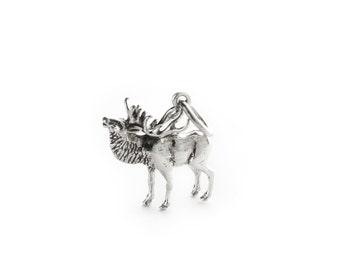 Majestic Elk Sterling Silver Charm