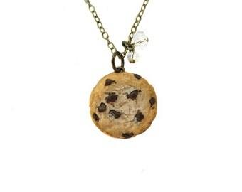 Cookie Necklace - Bronze - Miniature Food