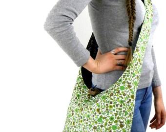 Cross Shoulder Bag - Hobo Bag - Crossbody Bag - Sling Bag - Slouch Bag - Vegan Bag - Hippie Purse - Hobo Purse - Over Shoulder Bag
