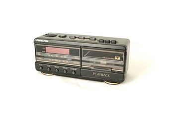 80s CASSETTE tape player ALARM clock AMFM stereo playback radio
