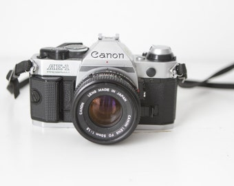 vintage CANON program AE-1 manual PERFECT condition slr pentax style film camera