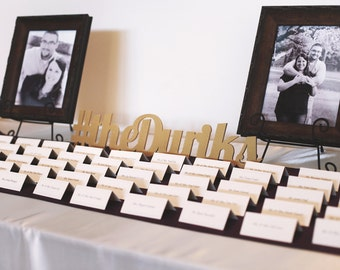 Personalized Wedding Hashtag Sign, Photo Prop or Wedding Decor, Wooden Words Hashtag Sign, Name in Wood (Item - PHT100)