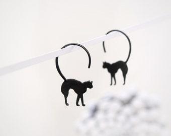 Lucky Black Cat Earrings