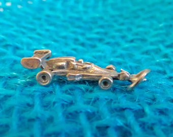 Dragster Race Car Sterling Charm