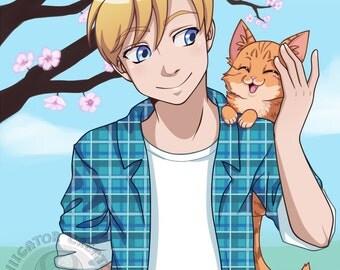 CUSTOM Anime Half-Body Portrait (Digital File)