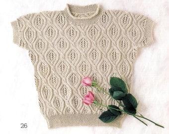 Vintage Knitting Pattern, Knit Blouse Pattern, Japanese Craft Book, Crochet Pattern, Spring Summer Knitting Pattern
