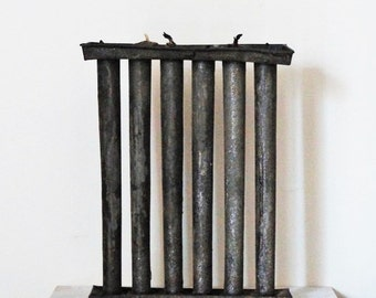 Primitive candle maker ~ antique candle maker ~ 1800s rustic candle maker ~ iron candelabra ~ candelabra ~ beeswax candlemaker