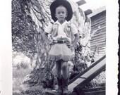 This Cute Little COWGIRL In Full WESTERN Dress Has An ATTITUDE Photo circa 1950