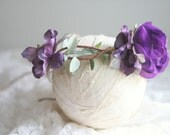 Floral Crown - Floral Halo -  Purple Tones - Photography Prop