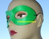 Green Superhero Leather Mask Unisex Riddler Harley Quinn Lantern Robin Arrow Cosplay Halloween Costume - Available in Any Basic Color