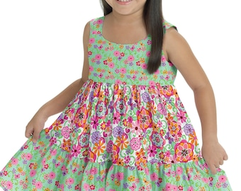 Diy Sewing Pattern-McCall's 6017- Sundress,Pants and shorts-Size 1,2,3 Spring Summer Child Dresses