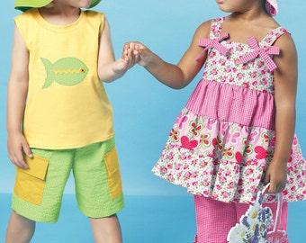 Diy Sewing Pattern-McCall's 6495- Unisex Dress,Pants,hat,shorts,t-shirt-Size 1,2,3