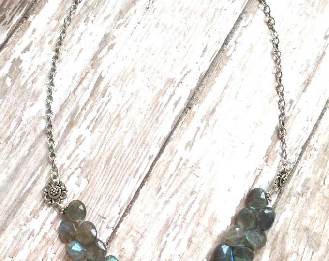Labradorite Gemstone Bib Necklace
