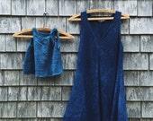 Little Girl's Dress, Deep Indigo, 12-18 months