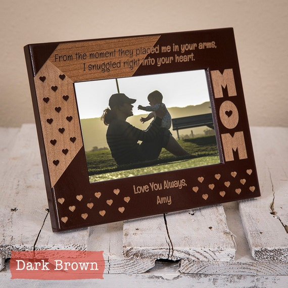 Mothers Day Gift Personalized Mom Frame By Giftedoak On Etsy