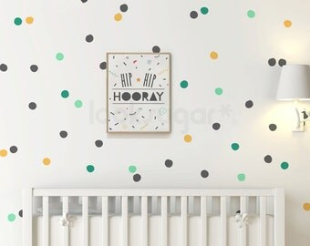 Hand Drawn Polka Dot Wall Decals - Pattern Wall Stickers - Polka Dot Decals - AP0063NF