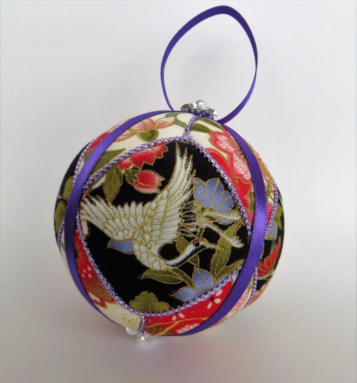 Japanese Cranes Kimekomi Ornament