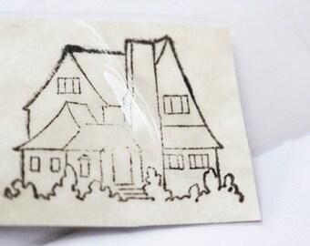 Vintage Rubber Stamp - HOUSE
