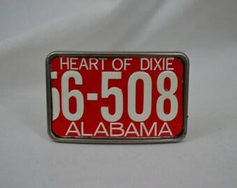AlabamaLicense Plate Belt Buckle
