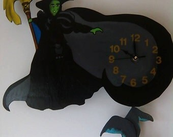 Wizard of Oz/ Wicked Witch of the West Pendulum Wall Clock