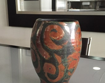 Pottery Vase / Ceramic Vase/ By Gatormom13
