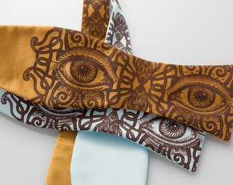 Psychedelic Eye Bow Tie - Men's Bowtie - Adjustable Freestyle Bowtie - Unique Gift for Men - Unique Bow Ties - Strange Odd Eyes