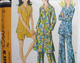 Misses Lounge or Pajama Set Sewing Pattern - McCall's 2560 - Sizes 14, Bust 36