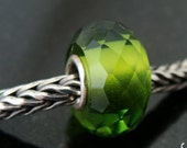 Olive Prism fits Trollbeads European Charm Bead  Slider BHB
