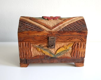 Carved Mexican Cedar Chest