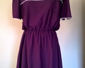 Vintage 70's Purple Dress