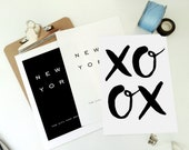 XO OX Printable Art Love Print - Hugs and Kisses - Print at Home Poster - Art Valentine Anniversary Wedding Last Minute Gift pdf & jpg Files