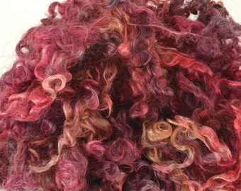 Wensleydale Long Wool Locks for Spinning and Felting Fiber- Colorway Vampy