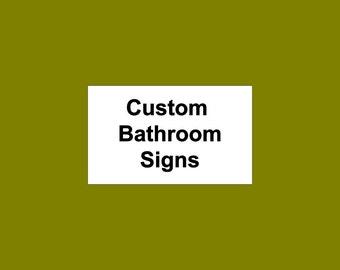 Simple Bathroom Signs Ladies Men Gentlemen Vinyl Sign