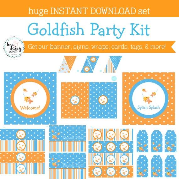 Goldfish Birthday Party, Goldfish Baby Shower, Goldfish Birthday Decorations, Goldfish Baby Shower Decorations, Goldfish Party Decorations