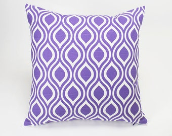 Modern Nicole Thistle Purple Throw Pillow Cover