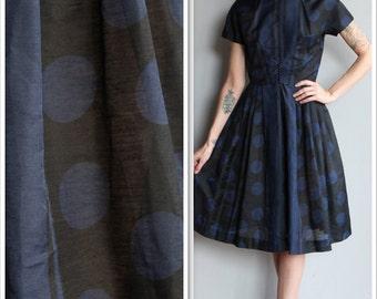 1950s Dress // Bold Polka Dot Dress // vintage 50s dress