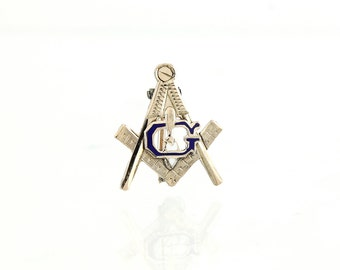 Antique 10K Masonic Lapel Pin -1890 Victorian