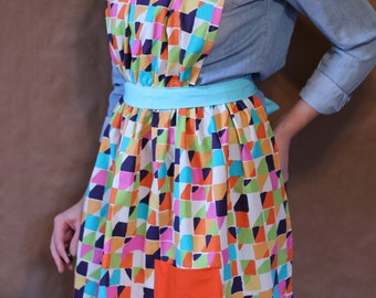 Friday Dinner Apron - Handmade - Fiesta - 100% Cotton - Handmade Apron / Kitchen Apron / Gifts Under 50 / Gifts for Her / Shower Gift