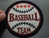 Baseball Patch Baseball Team patches Sport patch Applique embroidered patch Round Iron On Patch Sew On Patch