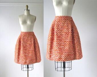 vintage 1960s boucle skirt / tulip skirt