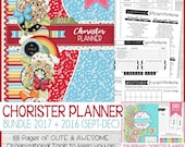 2017 Primary Chorister PLANNER + 2016 (Sept-Dec), Singing Time Helps, 2017 Primary Theme, LDS Planner, Choose the Right - Instant Download