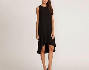 Black dress, summer short Dress, cocktail dress, black evening dress, sleeveless dress, black party dress,