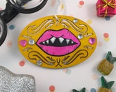 Pink Lips Ornament