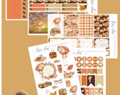 Autumn Chic - Happy Planner stickers with glitter accents