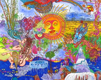 Gods of the Glass Bead Game - Art by Masha Falkov - Print