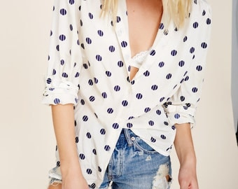 Polka Dot Button-up