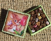 Miniature Box of Chocolates 12th Scale Polymer Clay Miniatures Easter Bunny Dollhouse Miniature